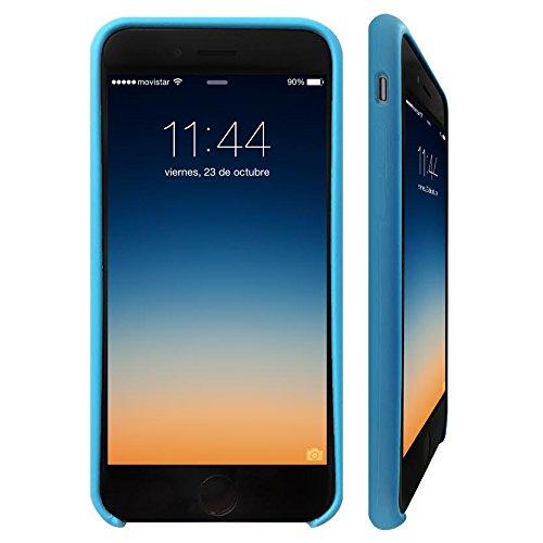 iPhone 6 PLUS 6S PLUS (5,5 Zoll) Hülle - KHOMO® Schutzhülle Silikon Case für Apple iPhone 6 PLUS und 6S PLUS - Rosa Blau