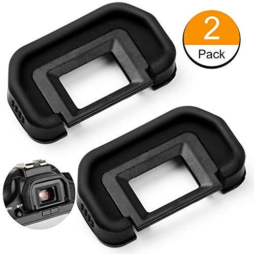 Fotover Augenmuschel Okularmuschel Okular Sucher für Canon EOS 6D, 6D Mark II, 5D, 5D Mark II, 80D, 70D, 60D, 50D, 40D, 30D, 20Da, 20D Kameras Ersetzt Canon EB Okular(2 Stück) 5d 50d 40d Kamera
