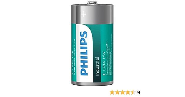 Philips Industrial Alkaline Batterien Typ C Elektronik