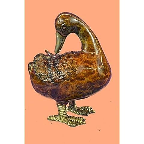 Escultura bronce estatua...Envío gratis...Mogniez francesa Viena Brass pie de pato en frío pintado Bird Bergman(56692NA-EU)Estatuas estatuilla estatuillas desnuda Oficina y Decoración del hogar