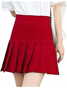 Xinvision Escuela Vestido Básica Mini Falda Plisada Uniforme De Las Muchachas De Las Mujeres Patinador