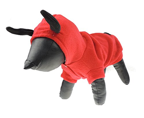 Glamour Girlz Very Cute Cats Small Dogs Funny Dress Up Devil Horns Outfit Jumper Costume Sweater Tail M (Devil Dog Pet Costume)
