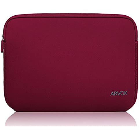 Arvok Pulgadas Funda Protectora Para Portátiles / Impermeable Ordenador Portátil Caso / Notebook Caja De la Computadora / Neopreno Del Portátil Bolsa / Caja De La Tableta / Bolsa De Transporte / Portátil Ultrabook Cubierta De La Piel Portátil Para Acer / Asus / Dell / Fujitsu / Lenovo / HP / Samsung / Sony Toshiba (13.3-Pulgadas, Vino
