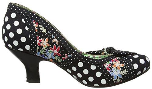 Poetic Licence by Irregular Choice Shake It, Escarpins femme Multicolour (Black Floral)