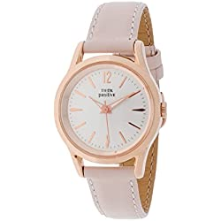 THINKPOSITIVE, Womens watch, Model SE W 130 R Big Milano,Imitation leather strap, Unisex, Color Pink