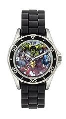 Idea Regalo - The Avengers AVG3529 - Orologio da polso, da ragazzo, Gomma, colore: Nero