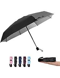G4Free Mini Plegable Paraguas Paraguas del Sol Súper Ligero con 8 Varillas para Viaje Picnic Excursión