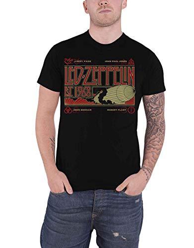 Générique LED Zeppelin T Shirt Zeppelin   Smoke Est 1968 Band Logo Nouveau  Officiel Homme Size 73c6e0317c610