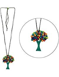Cuentas de cristal de collar con colgante de un árbol (Multicolor) fabricado con madera y cable por Joe Cool