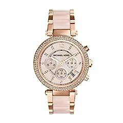 Idea Regalo - Michael Kors Orologio Cronografo Quarzo Donna con Cinturino in Acciaio Inox MK5896