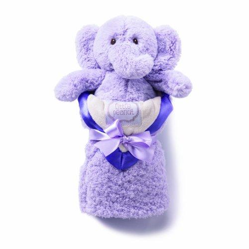 kathy ireland Plush and Blanket Set, Lilac Elephant