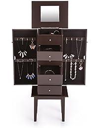 Boite a bijoux armoires bo tes bijoux et pr sentoirs bijoux - Meuble miroir avec rangement pour bijoux ...