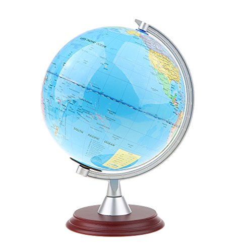 MagiDeal 20cm Geographischer Schülerglobus, Drehbar 360 ° Politische Globus mit deutlichem Weltkarte, Schreibtisch Dekoration - # 2