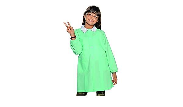 6 anni, Verde acqua Grembiule Pollicino Isacco per asilo e scuola materna 3-6 anni