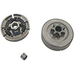 """Shioshen . 325"""" 7 dents embrayage tambour chaîne pignon Rim Cage portant le Kit pour les pièces de 025 023 021 tronçonneuse STIHL MS250 MS230 MS210"""
