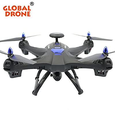 Lanspo Aircraft, Drone, Outdoor Toys, Aerial Photography, Global Drone (200 mega camera + WIfi) global drone 6 axis X183 and 2MP FPV HD camera GPS Quadcopter by Lanspo