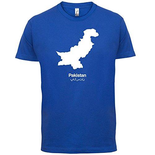 Pakistan / Islamische Republik Pakistan Silhouette - Herren T-Shirt - 13 Farben Royalblau