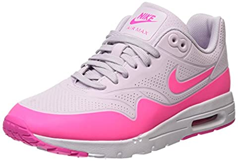 NIKE Air Max 1 Ultra Moire Da Lauchuhe, Chaussures de Running Femme, Blanc (Weiß/Bleached Lila/Pink Blast), 37.5