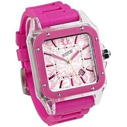 Urbanz Hot Pink Rubberised Fashion Watch