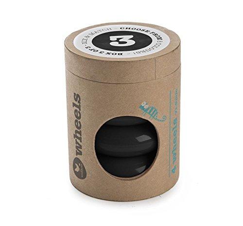 Wishbone Design Studio - Mini Flip - Set de 4 roues - Noir - Plastique - 5136