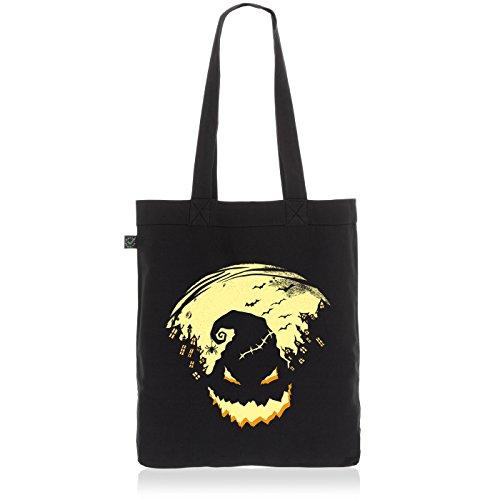 lloween Biobaumwolle Beutel Jutebeutel Tasche Tote Bag Nightmare (Halloween Kostüm Streich)