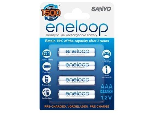 Sanyo - eneloop - Blister de 4 piles Ni-Mh LR03 - 800 mah