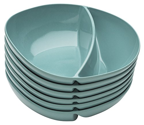 Zak Designs 2191-0320-ISET Moso Divided Bowls, 7.5\