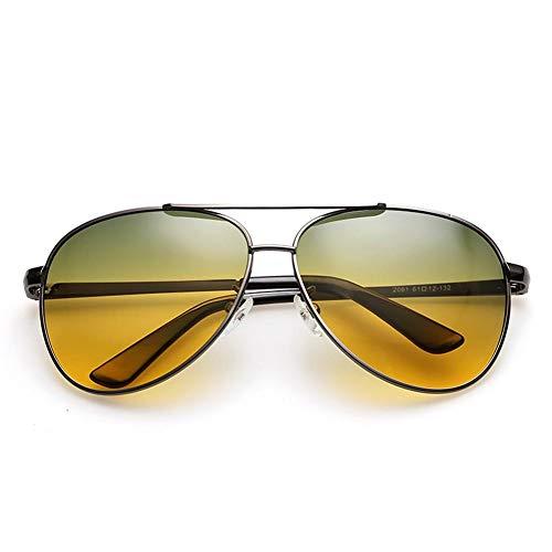 TomobileAlloy Herren und Damen Nachtfahrbrille mit Legierung Rahmen Nachtsichtbrille Autofahren Anti Glanz Polarisiert KontrastBrille