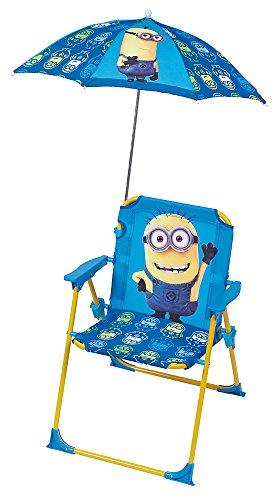Fun House 712208 Moi Moche et Mechant Chaise Pliante avec Parasol pour Enfant - 39 x 39 x 53 cm