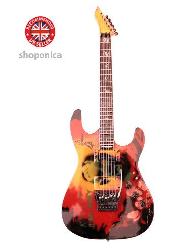 KIRK HAMMETT - Replica ESP KH 2 THE MUMMY - chitarra in miniatura exclusive