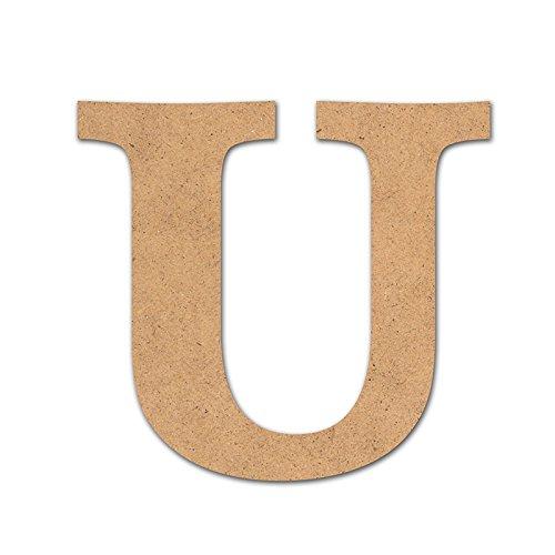 Detalles Infantiles Lettre « U » en bois pour loisirs créatifs, 10 cm
