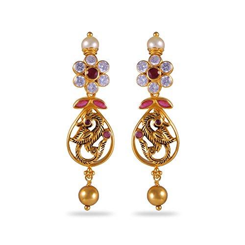Joyalukkas Apoorva Collection 22k Oxidized Gold Drop Earrings