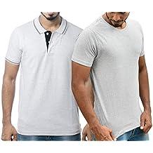 Ruffty Mens Cotton Polo & Round Neck Half Sleeve Tshirt Combo