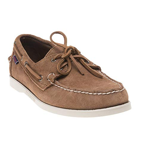 Sebago Herren Docksides Portland Suede Bootschuhe, Braun (Brown Cognac 907), 43.5 EU - Wildleder Deck Shoes
