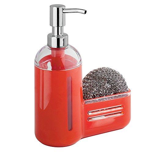 distributeur-de-savon-a-pompe-avec-porte-eponge-mdesign-kitchen-rouge