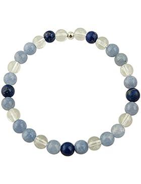 Edelstein Armband - Erzengel Michael - mit 925er Silber Perle, Heilsteinarmband, Stretcharmband