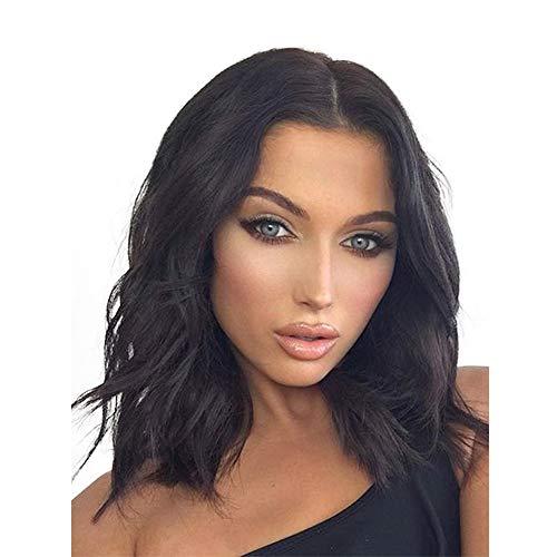 Ysy Hollywood Dame Perücke Kurze Haare Mikro Volumen Lange Haare Mais