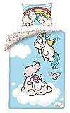 NICI Theodor & Friends Einhorn Baby Bettwäsche 100x135 cm 100% Baumwolle