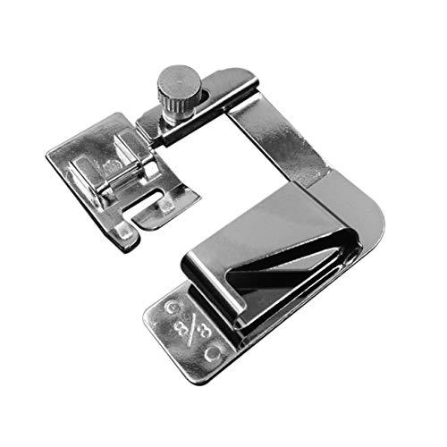 Le pied domestique multifonctionnel de ourleur de bande de Presser de bande de tissu a roulé le pied d'ourlet pour la machine à coudre de ménage 13mm / 19mm / 25mm argenté