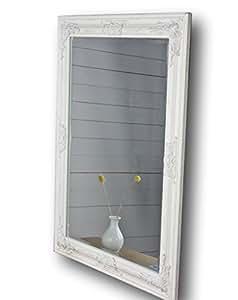 Specchio da parete bianco oro argento cornice in legno legno bianco 82 x 62cm - Specchi da parete amazon ...