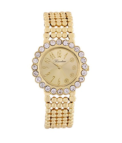 Timebre Women Gold Diamond Party Watch