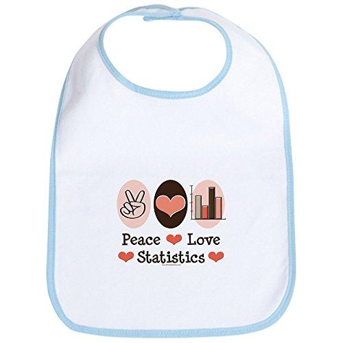 "CafePress ""Peace Love Statistiken Statistician Lätzchen"