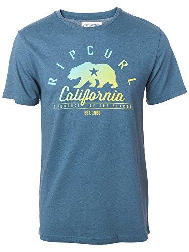Herren T-Shirt Rip Curl California T-Shirt indian teal mar