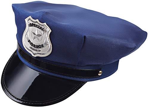 Polizei Hut Kostüm - Balinco Polizeimütze Polizei Hut Cap Schirmmütze dunkelblau für Damen & Herren