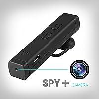 Ctronics spionaggio nascosta–Fotocamera, HD–Videocamera con funzionali Wearable DVR Bluetooth hadset con cuffia Nanny Camera incasso, 8g–SD–Flash