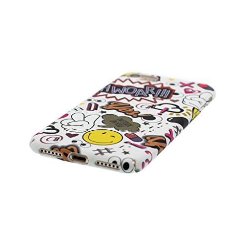 iPhone 7 Plus Custodia, Ultra sottil TPU Case Cover Shell Semplice Progettato per iPhone 7 Plus Copertura (5.5 pollici), prova antipolvere della prova di polvere ( Cartoon Stripe ) color 4