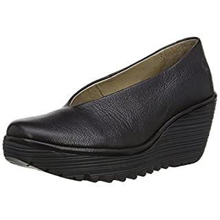 Fly London Yaz Mousse, Women's Court Shoes, Black 3 UK