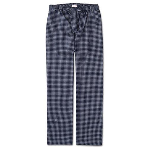 Derek Rose Herren Loungehose Braemar Plaid Gebürstete Baumwolle Navy Pyjamahose - Blau - XX-Large -