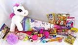 Geschenkpost24 101650 Gefüllte Schultüte Einhorn bunt Medium 35cm Pegasus mit Spielsachen und Schulbedarf gefüllt für Schulanfang