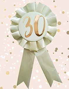 Alandra Birthdays RGB-30 - Roseta de cumpleaños (metálica), Color Crema y Oro Rosa
